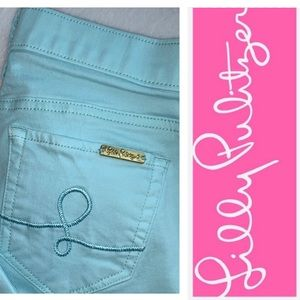 LILLY PULITZER SOUTH  OCEAN SKINNY SIZE 2 PANTS